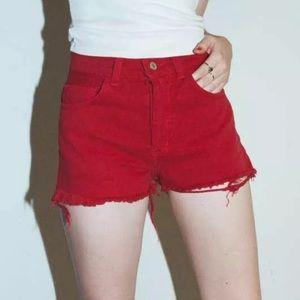 John Galt Frayed Mini Shorts